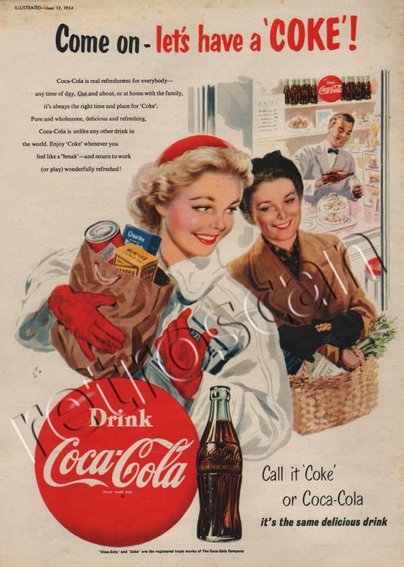 1954 Vintage Coca Cola Shopping Spree ad