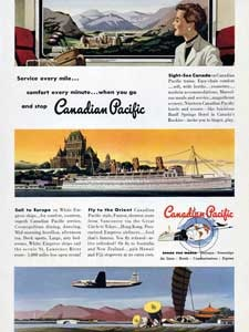 1950 Canadian Pacific - vintage ad