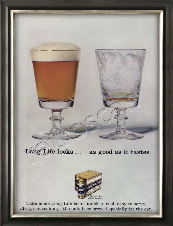 Long Life beer retro advert