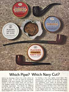 1964 Players Navy Cut Pipes