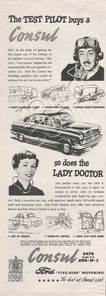 1954 Ford Consul vintage ad