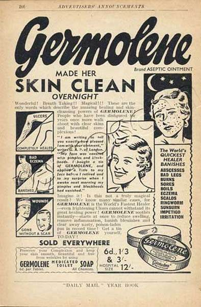 1938 vintage Germolene advert