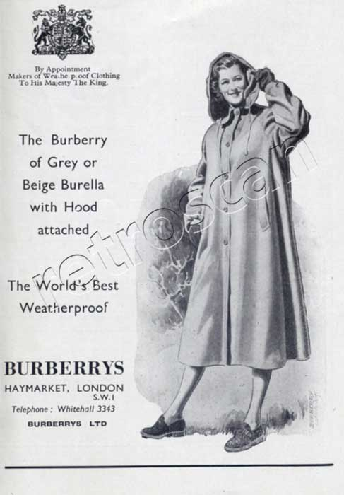 1953 Burberry advert