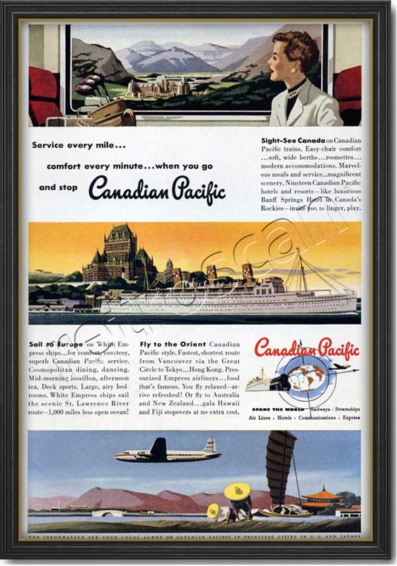 1950 vintage Canadian Pacific ad