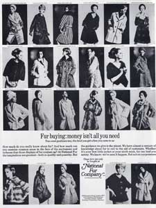 vintage National Fur Company ad
