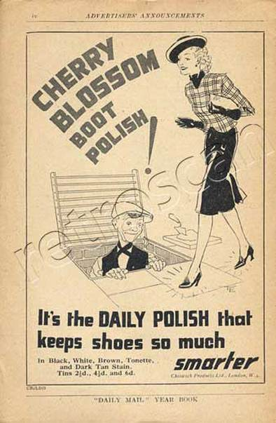 1939 Cherry Blossom Boot Polish