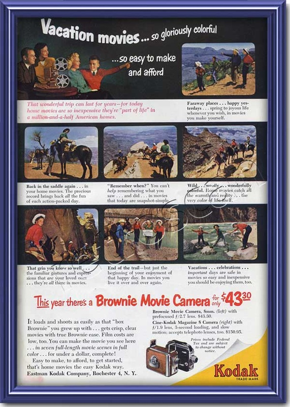 1952 vintage Kodak Brownie advert