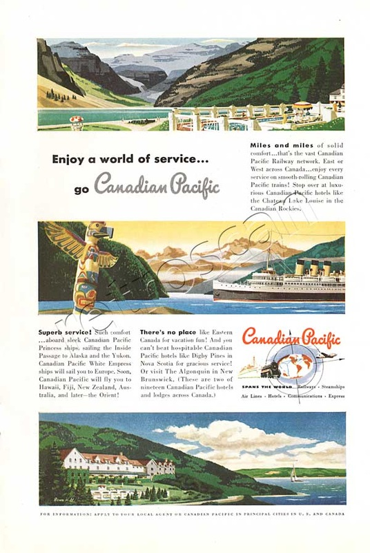1949 Canadian Pacific vintage ad