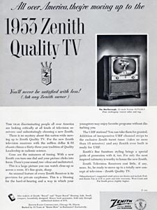 1952 Zenith TV advert
