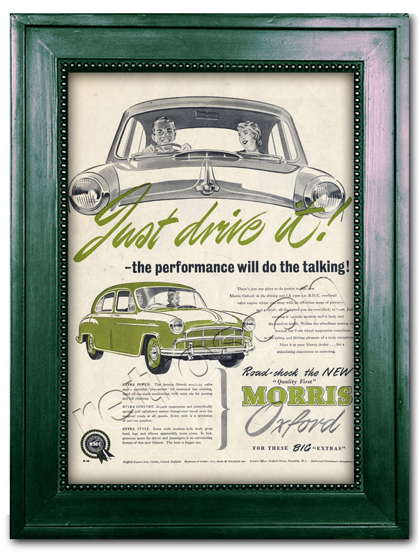 1954 Morris Oxford advert