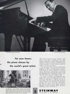 vintage Steinway pianos ad