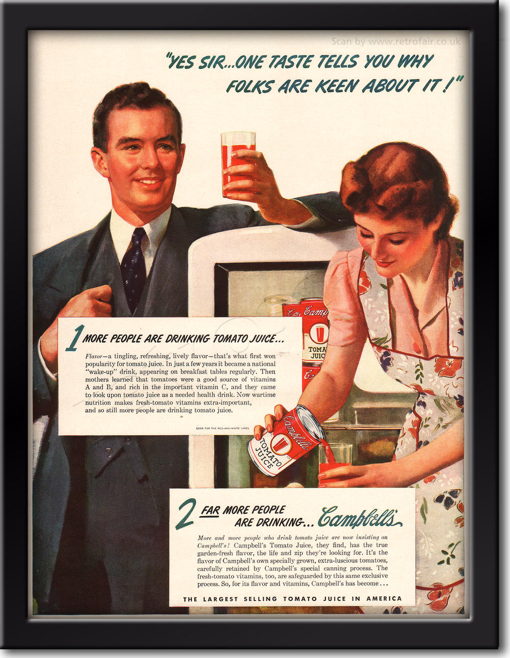 1942 Campbell's Soup - framed preview retro