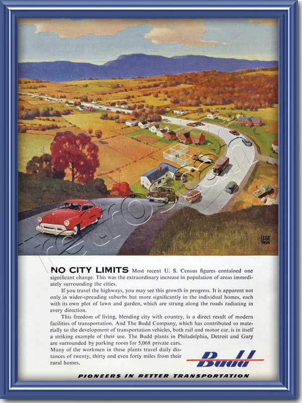 1951 vintage Budd Engineering advert