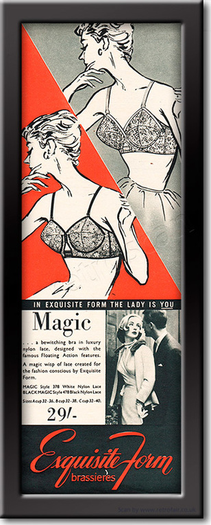 1958 Exquisite Form - framed preview vintage ad