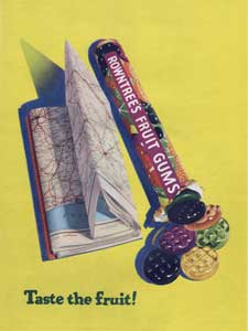 1954 Rowntrees Fruit Gums - Map