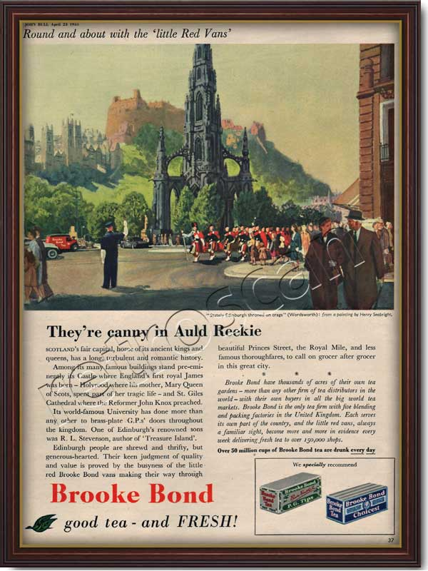 55 Brooke Bond Tea Edinburgh vintage advert