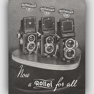 1954 Rollei - vintage ad