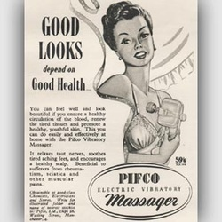 1950 Pifco Electric Massager advert