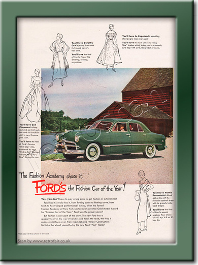 1949 Vintage Ford Motors ad