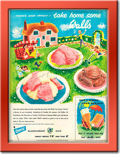 1955 Wall's Ice Cream vintage advert
