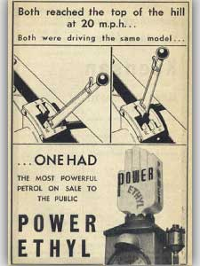 1936 Power Ethyl - vintage ad