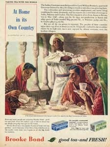 1956 Brooke Bond taking tea