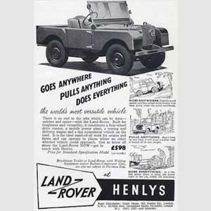 1953 Land Rover vintage ad