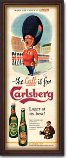 1955 Carlsberg Lager  - framed preview