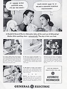 1948 GEC Dishwasher - vintage ad