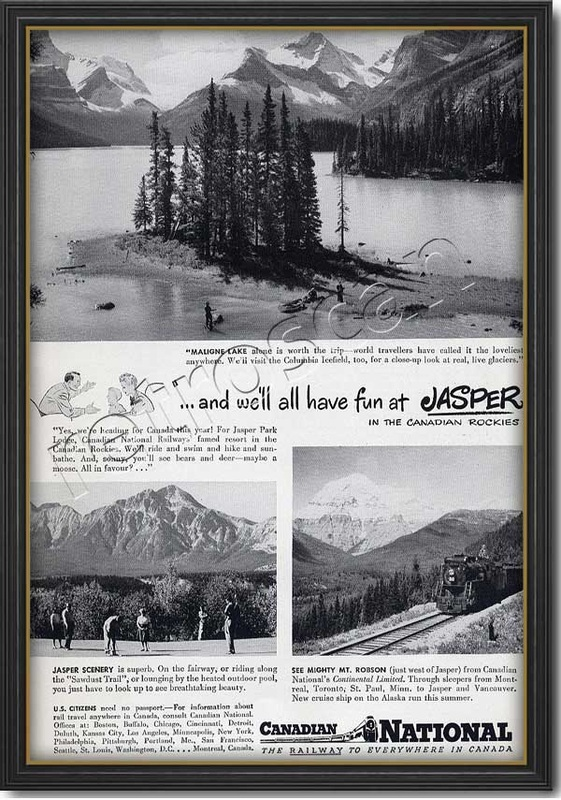 1948 vintage Canada National Railways ad
