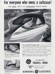 1953 General Electric Travel Iron - vintage ad