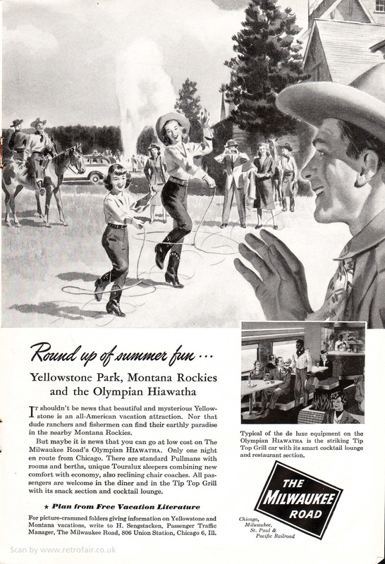 1948 Milwaukee Road - unframed vintage ad