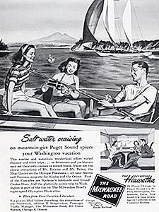 1948 Milwaukee Road  - vintage ad
