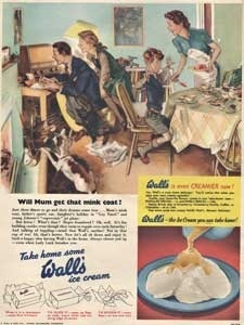 1954 Walls Ice Cream - vintage ad