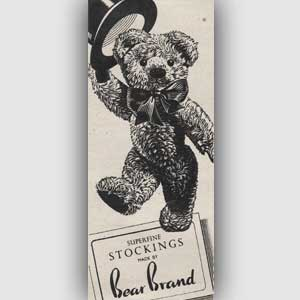 1951 Bear Brand Stockings - vintage ad