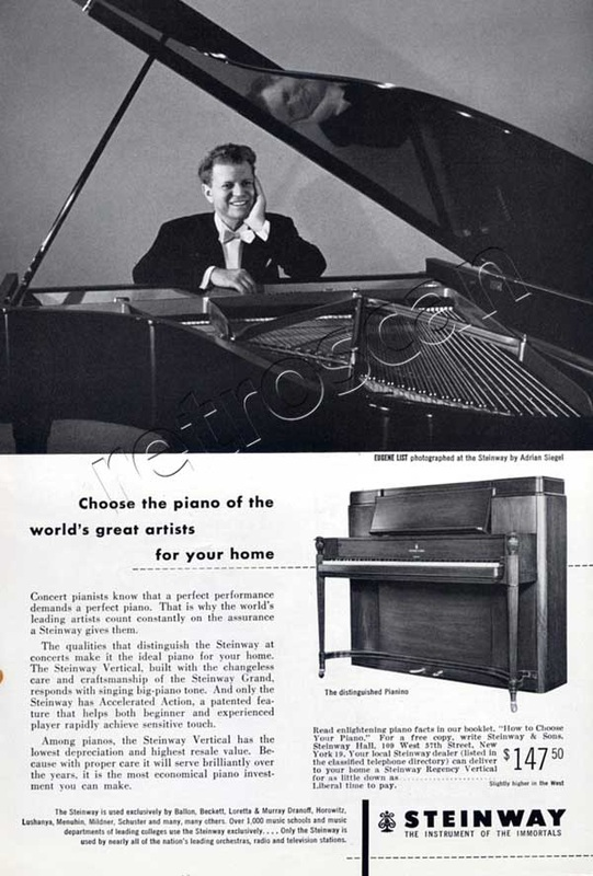 1953 Steinways Pianos - Eugene List