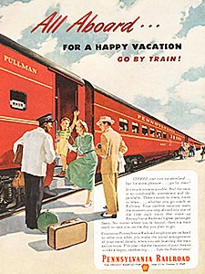 1949 Pennsylvania Railroad  - vintage ad