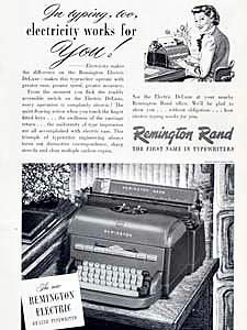 1949 ​Remington Rand - vintage ad