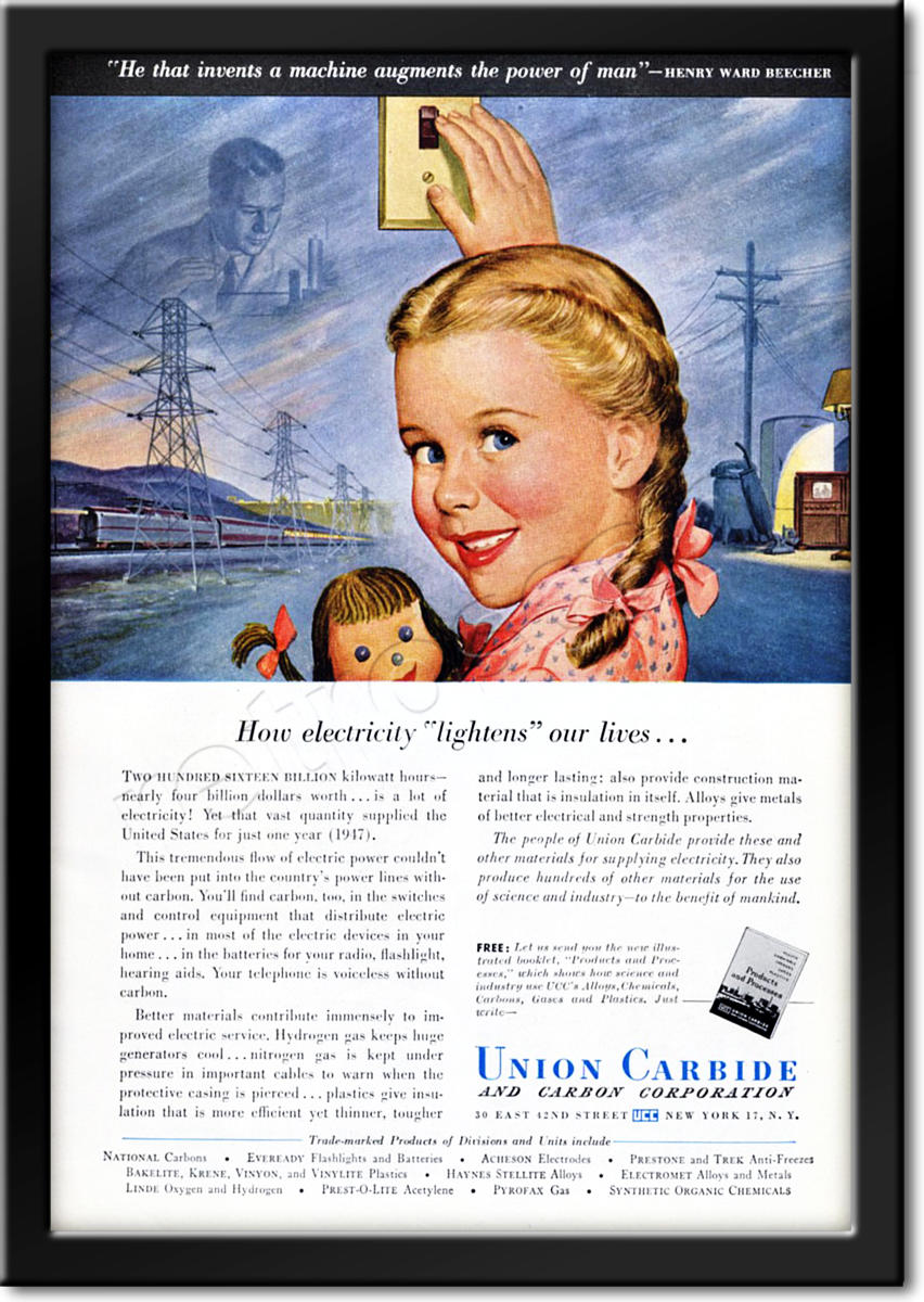 1949 Union Carbide  advert