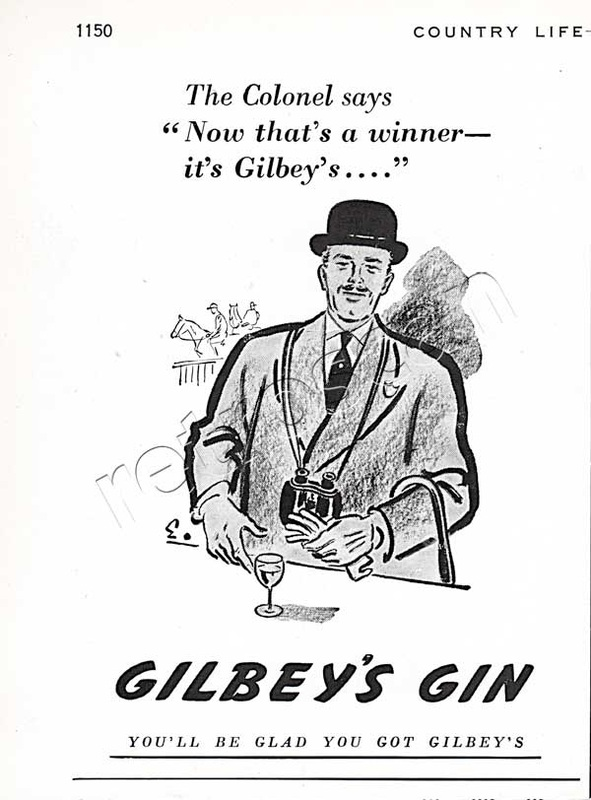 1950 Gilbey's Gin retro advert