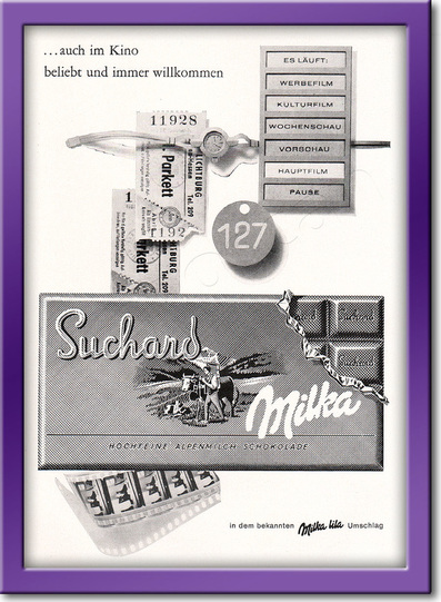 1961 Suchard Chocolate - framed preview retro
