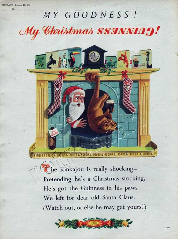Guinness Christmas Kinkajou - unframed