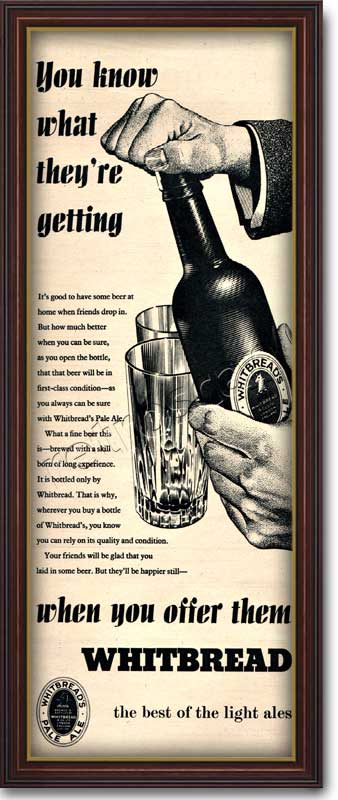 1954 vintage Whitbread Light Ales  advert