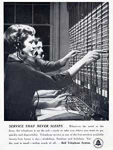1950 Bell Telephones - vintage ad