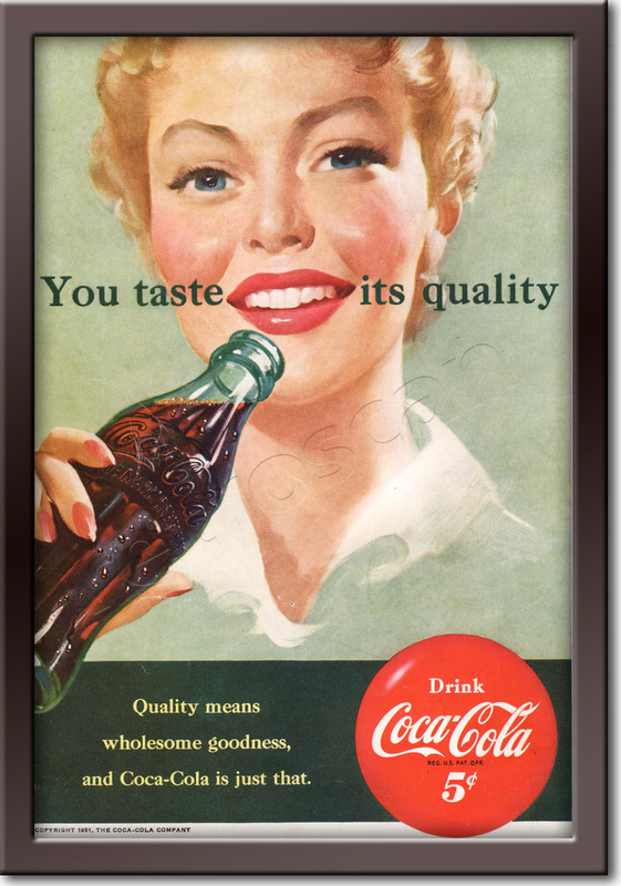 1951 Coca Cola - framed preview retro