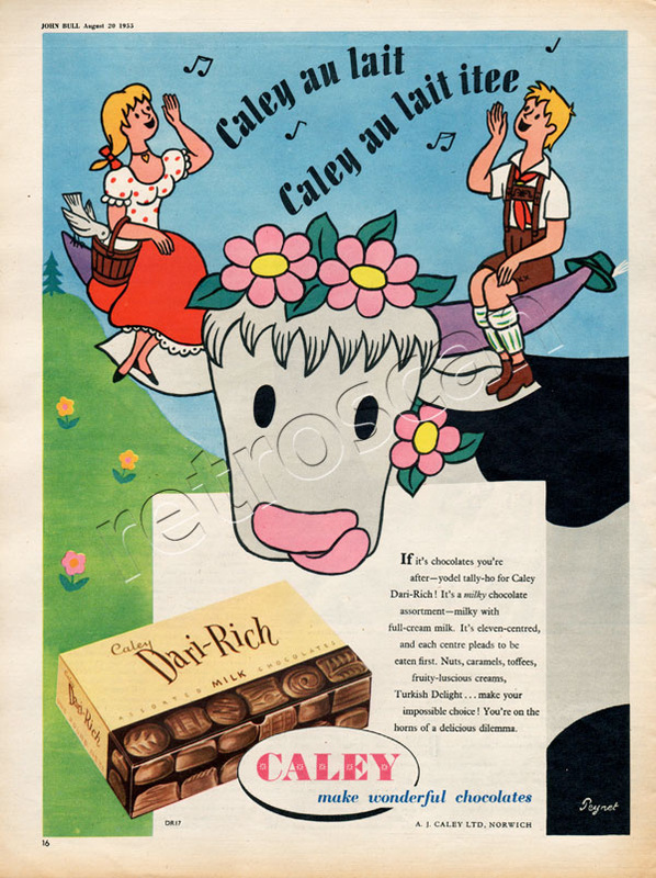 1955 Dari-Rich Chocolates vintage ad