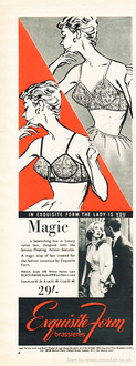 1958 Exquisite Form - unframed vintage ad
