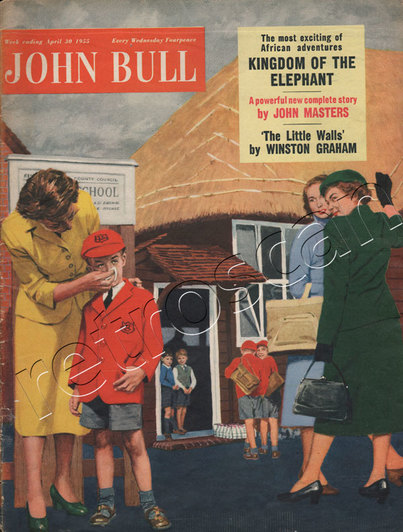 1955 April John Bull Vintage Magazine Mum wiping her child's nose  - unframed