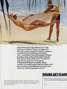 1966 Bahama Islands advert