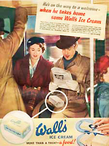 1952 Wall's Ice Cream - vintage ad